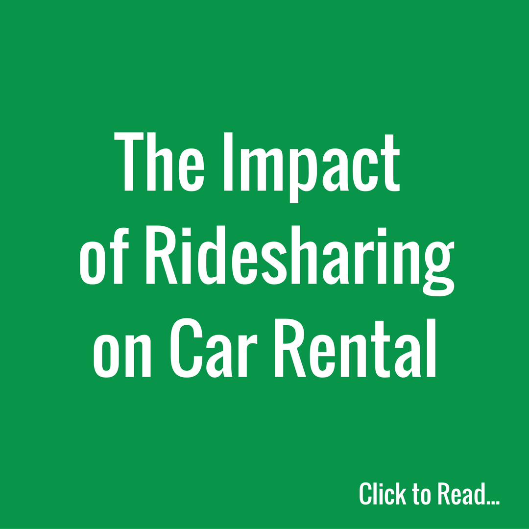 What Does Ridesharing Mean for the Car Rental